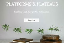 Reclaimed Wood Cake Stands / My newest line of Cake Stand is here!  This collection of cake Plateau's and Platforms are made from Reclaimed Wood. These stands are stunning and I can't wait to see what you do with them!