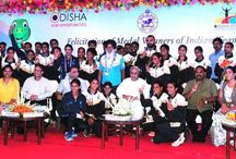 Odisha Chief Minister Naveen Patnaik felicitated cash reward to all the Indian medal winners
