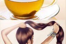 chá cresce cabelo