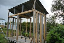 Build Wood Shed - Firewood Shed / How to build a Wood Shed : ►1: Level the ground and install deck piers  ►2: Attach joists to beams and form the floor  ►3: Build the framework for the walls  ►4: Build the roof structure and covering  ►5: Finishing and outcome