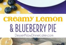 Creamy Lemmon and blueberry pie / Just like key lime pie, this creamy lemon and blueberry pie has a buttery graham cracker crust and a zesty (Meyer lemon) citrus cream filling, with the added bonus of plump blueberries. Top it with fresh whipped cream and you've got a delicious fruity dessert!