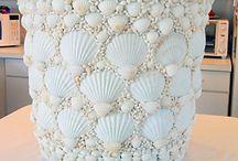 Artesanato com conchas do mar