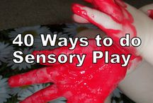 Sensory / Sensory Crafts, Ideas & Items (have separate Autism board)... also playdoh, bubbles, etc type recipes in Kid's Crafts (4 Kids) board...  / by Annissa Y
