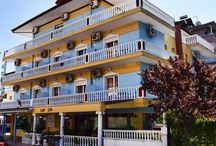 Ξενοδοχείο Έλλη Παραλία Κατερίνης Πιερία / Μόλις 120μ. από την θάλασσα, το Hotel Elli προσφέρει μοντέρνα δωμάτια με δυνατότητα προετοιμασίας γευμάτων,είναι κλιματιζόμενα και εξοπλισμένα με τηλεόραση και μικρή κουζίνα με ψυγείο.