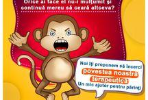 Copilul tot striga? / Diminuarea comportamentului agresiv verbal, poveste terapeutica (Maimutica Miki invata sa vorbeasca frumos )
