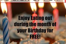 Freebies / Enjoy getting free stuff! From eating out on during the month of your birthday for free, to free samples who doesn't like FREE?!
