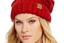Red CC Beanie Hats
