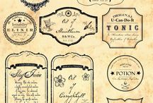 Vintage labels and templates