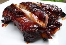 BBQ ribs and chicken