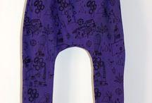 Pantalones Racataplán / Pantalones baggy en algodón orgánico. De 0 meses a 3 años.  Diseñados y producidos en Galicia