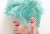 Curls with shaved sides:ideas for Missy Mae