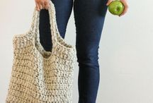 crochet or knitted bags / bags