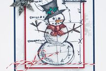 Card Ideas-Christmas Tim Holtz/Stampers Anonymous