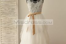 Feathered Tulle Wedding Dress