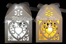 Paper Lanterns / Paper lanterns with LED tea lights for weddings, engagements, parties or any event.