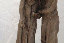 My artworks - Jewish Sculptures / My project following Roman Vishniac. Sculpturing