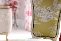 Toile de Jouy used in many ways / Toile de Jouy-A french fabric that can be used many ways for home or accessories .