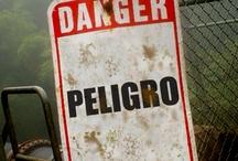 Carteles peligro