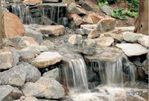 Waterfalls & Water Features / Let you imagination soar and the water pour. We have little rock and big rock, boulders and everything in between to help you with your waterfalls and water features.