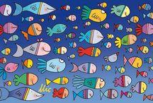 disegni pesci