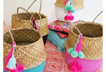 Contemporary Coastal homewares and decorrattan baskets