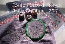 Hardanger Corner / Les créations Hardanger de Cécile Pozzo di Borgo qu'elle diffuse sur sa boutique en ligne http://aziliz-creation.alittlemercerie.com