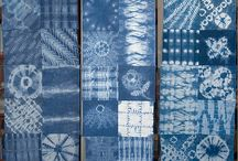 """Shibori & Arashi / The common English translation of the Japanese word shibori is """"tie-dye""""; however, a more accurate translation is """"shaped resist dyeing,"""" which describes the inherent patterning process of manipulating the two-dimensional cloth surface into three-dimensional shapes before compressing them to dye."""