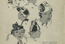 Clothing Accessories Sewing Patterns / Old, Vintage, Retro Illustrations