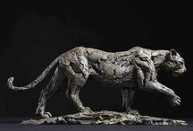 Leopard - sculpture / Bronze sculptures made by Hamish Mackie, all signed, dated and numbered editions