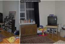 Organizing Your Livingroom & Family Room / Organizing ideas for your livingroom and family room, including before and after pictures from our client work.