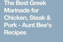 Greek sauces/marinades