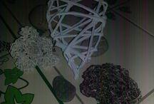 creazioni con cannucce di carta di Rirì Scafidi