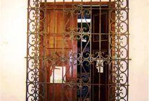 Iron door's windows fence / Iron/Herreria