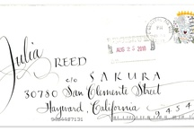 Cool Mail / Being a pen company, we sometimes get pretty cool/cute/beautiful/funky mail we like to share! / by Sakura of America