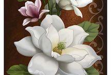 virágok / Virág festése