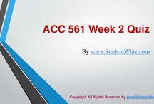 ACC 561 Week 2 Quiz