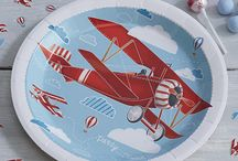 Vintage Aeroplane Party / Take to the skies and celebrate your birthday with our delightful red vintage aeroplane party supplies.