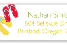 Cute Address Labels / Personalized cute address labels for your personalized stationery.