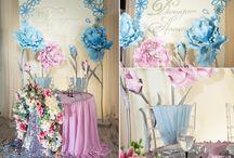 Розовое-голубая палитра