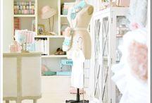 craft workshop diy + style / DIY Craft Sewing Room Ideas