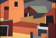 Precisionism / minimal urban, architecture and industrial paintings