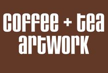 Coffee + Tea Artwork / Great artwork themed around coffee and tea. Artwork is from illustrators around the world.