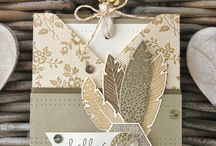Feathers Stampin'up / Cards or other beautiful DIY projects with use of feathers