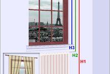 mesure de venetres pour rideaux