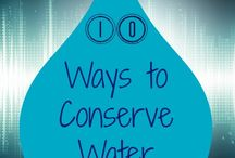 Conserving Water 101 / Different ways you can reduce your water intake at home!