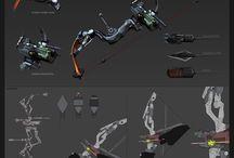 sword, bow & arrow
