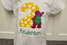 Barney themed party