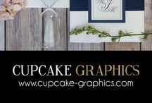 Our Wedding Invitation Designs / Custom wedding invitations designed by Newtown, PA wedding invitation designer - Cupcake Graphics