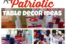 Patriotic/4th of July Table Decor Ideas