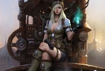 Steampunk / Art, photos & objects: a collection of the weird and wonderful worlds of Steampunk.